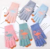 Перчатки сенсорные Фламинго