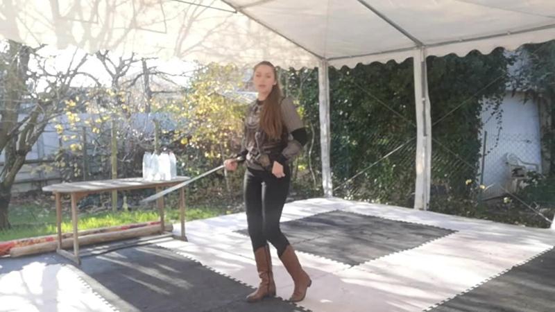 Наталья Копылова - выбор шашки для фланкировки, техника безопасности, работа тела