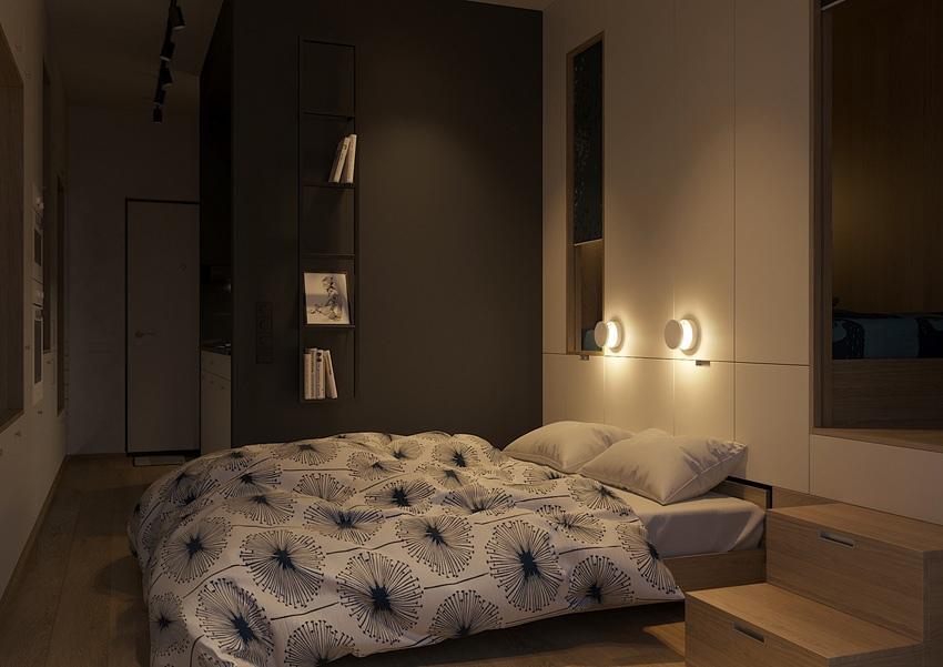 Концепт квартиры-студии 29 м для молодой семьи с ребенком.