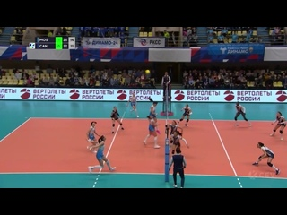 Волейбол ЛЧ Женщины 5-й тур Динамо Москва vs Канны