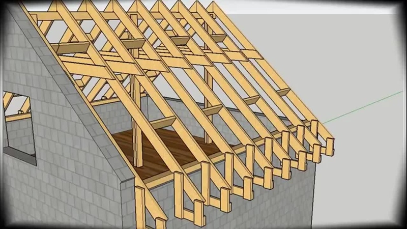 Строительство двускатной крыши - Проект «GARDEN» дача | сад | огород