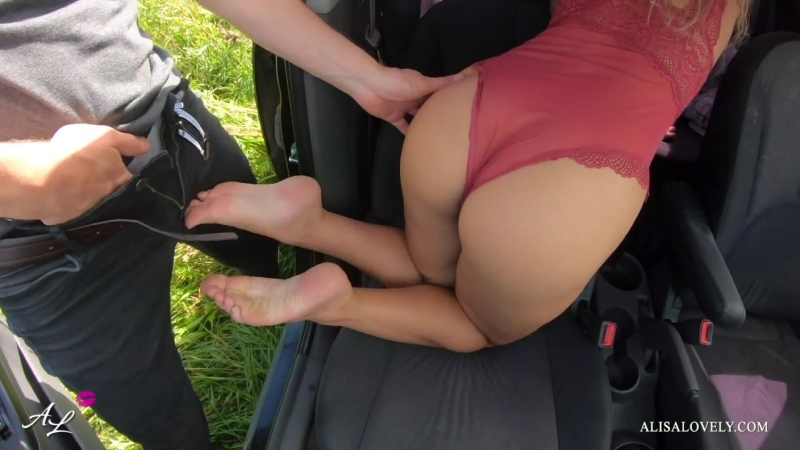 Alisa Lovely ( Pornhub Rain Caught Couple People Fucking in a Car Outdoor Double Cumshot on Gorgeous Ass)