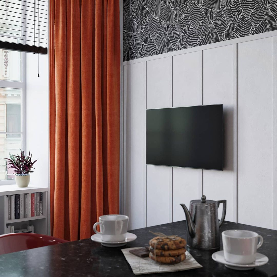 Проект двухуровневой квартиры-студии 24 кв.