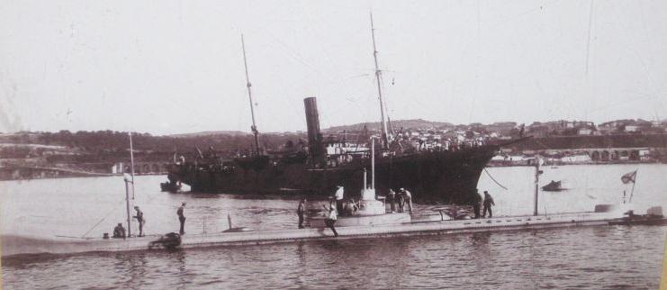 Подводная лодка «Карп» в Севастополе, 1909 г.
