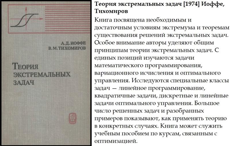 Теория экстремальных задач [1974] Иоффе, Тихомиров