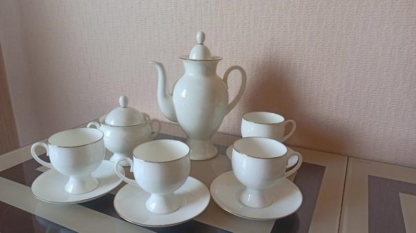 Сервиз кофейный из костяного фарфора, форма Класси...