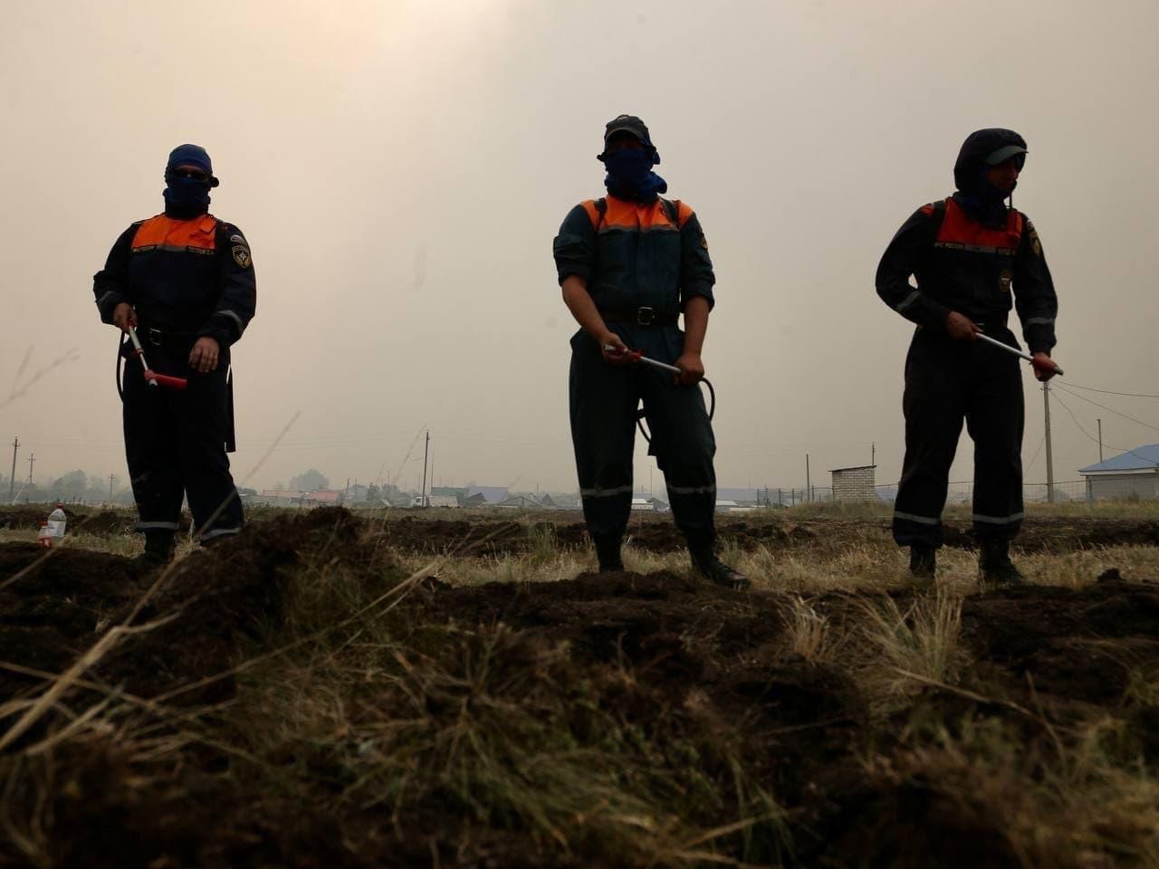 Оперативная информация по пожарам на юге Челябинской области на утро 10 июля