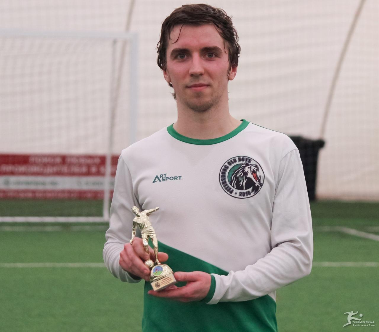 Даниил Рябчиков («Питер Олд Бойз») — лучший игрок дивизиона Хирхасова.