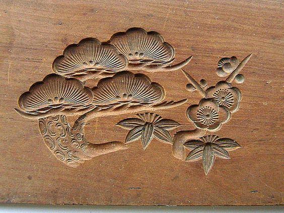 Японские деревянные резные формы Кашигата, изображение №30
