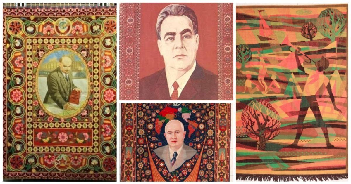 Подборка советских ковров, идеально отвечающих принципам агитации и пропаганды
