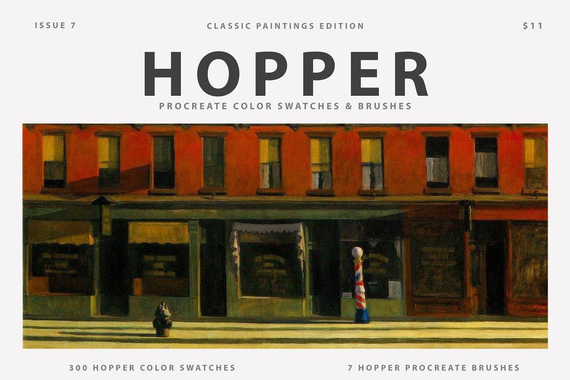 Hopper's Art Procreate Brushes