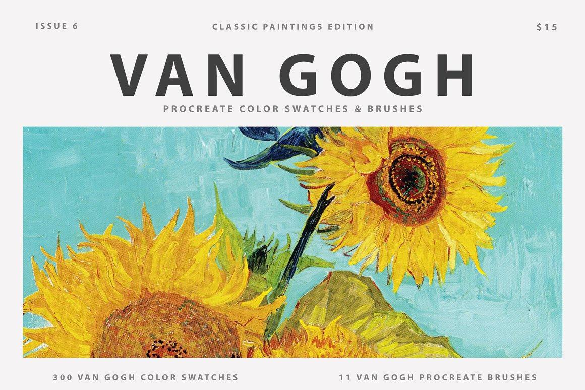 Van Gogh's Art Procreate Brushes