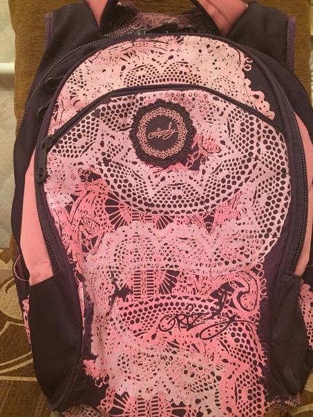 Школьный рюкзак для девочки фирмы Grizzly, ортопед...