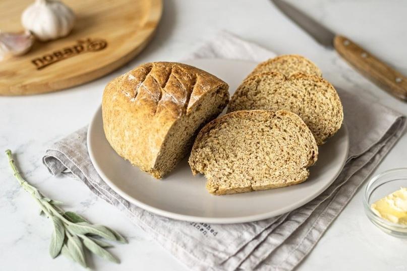 Хлеб из бездрожжевого теста с отрубями