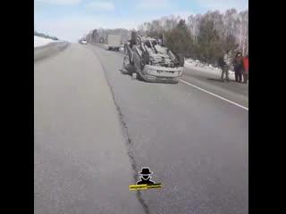 Перевертыш на трассе Бийск - Барнаул (Инцидент Барнаул)