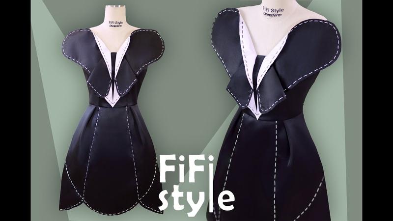 FiFi Style Thiết kế đầm phong cách Origami Butterfly