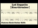 Famous Rock Guitar Riffs with TABs Heartbreaker LedZeppelin