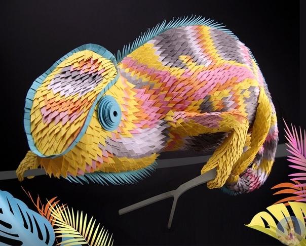Бумажные скульптуры животных Lisa Lloyd