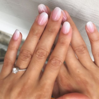 pink and white ombre nails - HD3024×3024