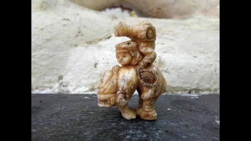 Нэцкэ Весёлые акробаты из Каникулы Кроша Netsuke Fun Acrobats from Krosh Holidays