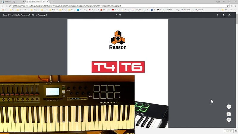 Setting up the Nektar Panorama T Series in Reason Part 1