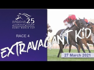 Extravagant Kid (USA) wins the 1200m G1 I Dubai World Cup I Race 4 I Al Quoz Sprint