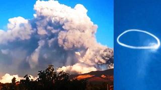 Etna erupts again: and releases strange rings into the sky