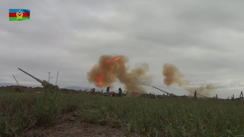 Ağdərə istiqamətində düşmənin artilleriya bölmələrinə zərbələr endirilib