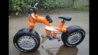 How To Make Extremely Fat Bike Using Car Hub And Tire  l DIY l PH l S Fadriquela