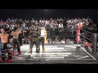 Brahman Kei, Brahman Shu, Gorgeous Matsuno vs. Danshoku Dino, HARASHIMA, KUDO (DDT - Fighting Beer Garden 2018)