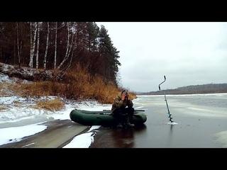 В Костромскую тайгу с ночёвкой. Ледостав на Унже. Опасный первый лёд 2020-2021. Щука на блесну.
