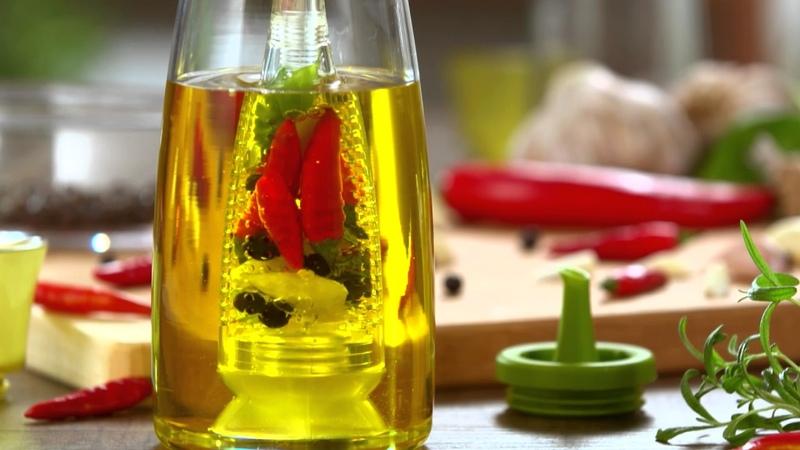 Oil jars, set and infuser VITAMINO