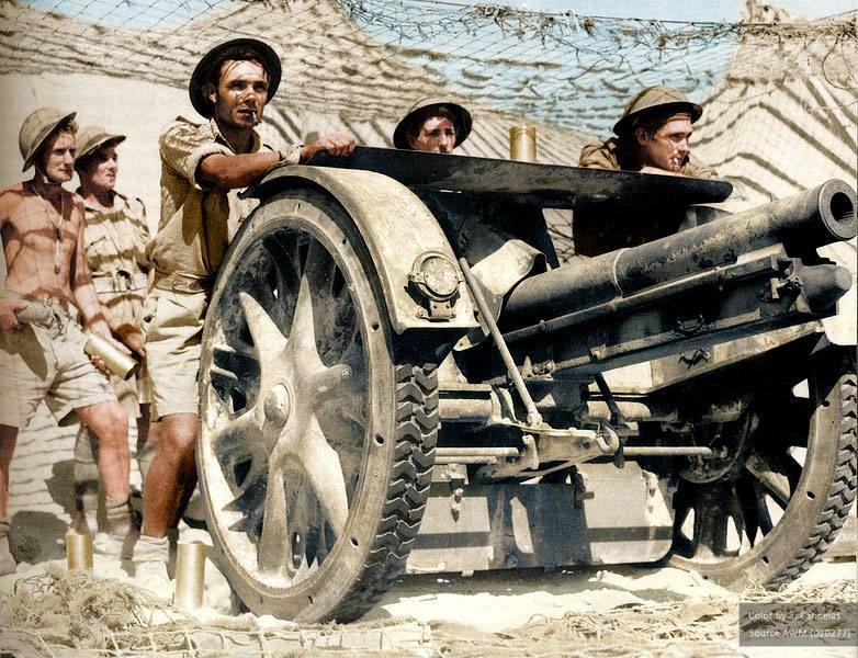 Британские солдаты во время осады Тобрука. Вторая мировая. Ливия. 27 августа 1941 г.