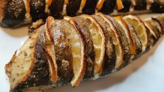 Морская рыба Терпуг, запеченная в духовке с лимоном. Полезная рыбка. Рецепты от Хлебстори