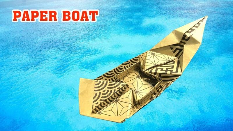 How to make a Paper Boat that floats on water Cách gấp xếp thuyền giấy có thể bơi trên nước