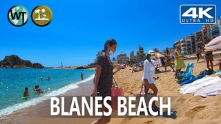 Blanes (Platja De Blanes) Beach, Costa Brava, Catalonia - 🇪🇸 Spain - 4K Virtual Tour