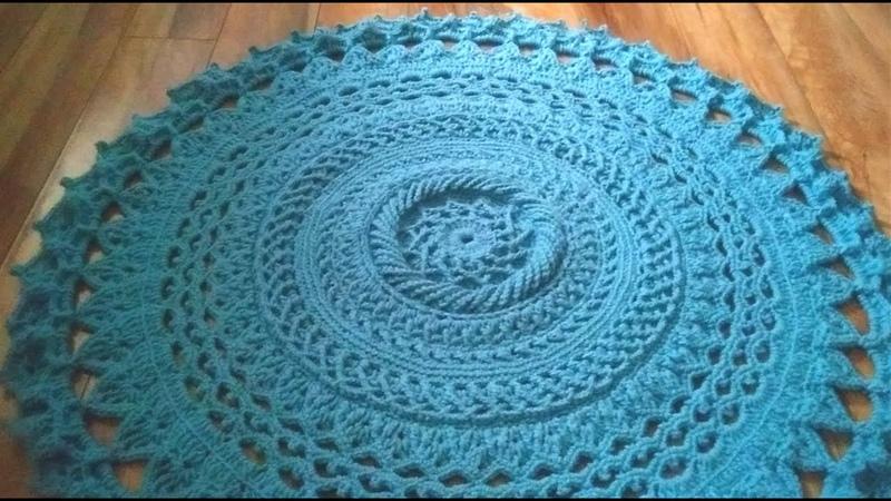 Crochet home rug 11 3D pattern crochet mandala table runner 1 2 alfombra de casa de ganchillo