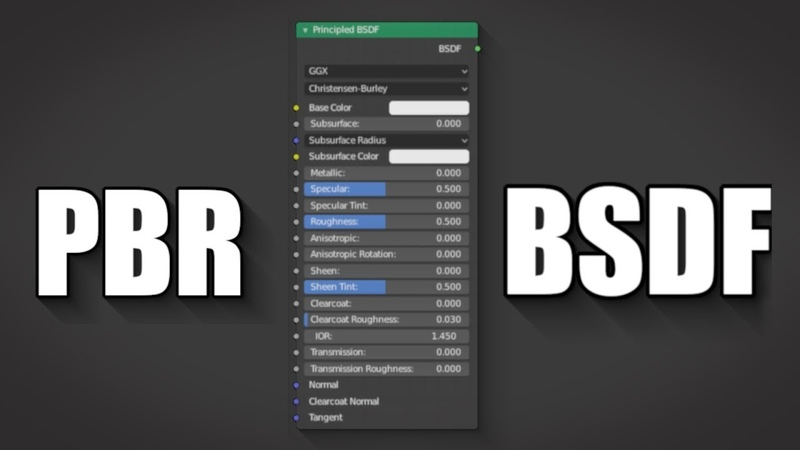 Blender 2.8 How to use PBR textures with principled bsdf Cycles/Eevee