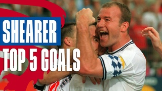 Alan Shearer's Greatest Goals for England | Top 5