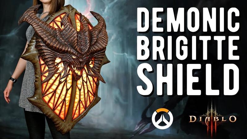 Demonic Brigitte Shield Overwatch Diablo Cosplay