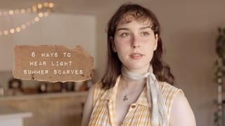 Мода. 6 ways to wear light scarves!