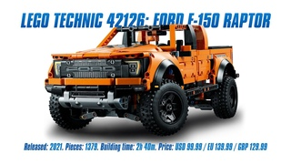 LEGO 42126: Ford F-150 Raptor: In-depth Review, Speed Build & Parts List