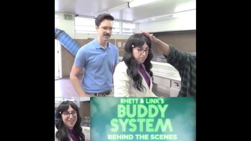 Rhett Link's Buddy System Mayim Bialik shoot