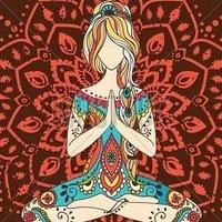 Логотип Йога для начинающих. Афиша. Челябинск